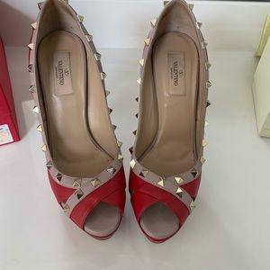 Valentino rock star peep toe pumps